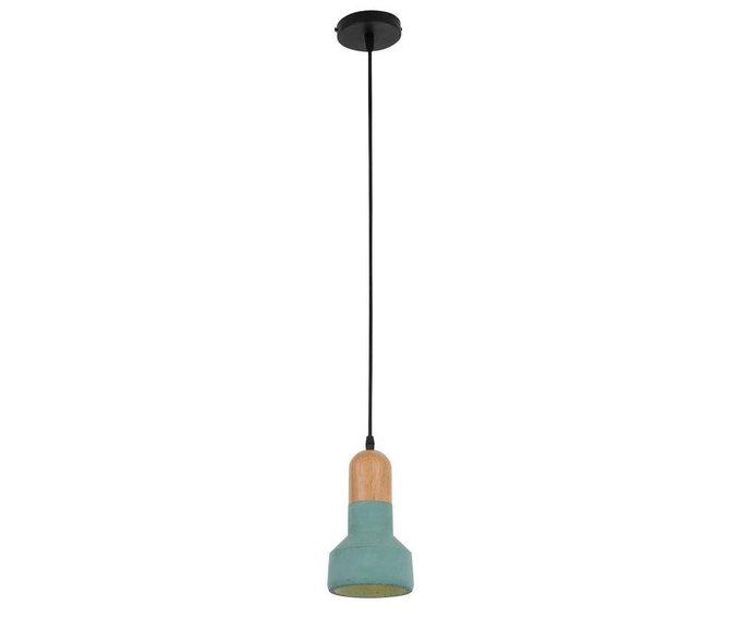 Подвесной светильник Спарк зеленого цвета