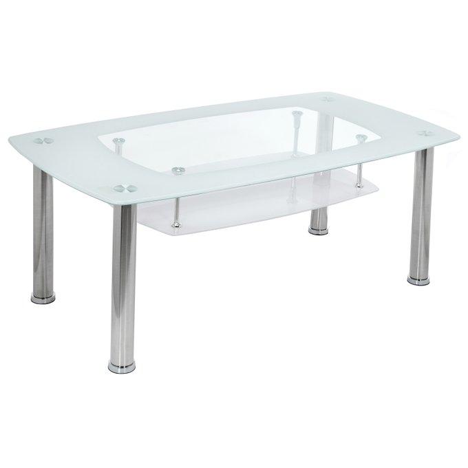Журнальный столик Tener со стеклянной столешницей белого цвета