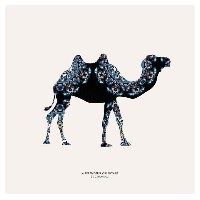 """Картина """"Восточная яркость, верблюд """""""