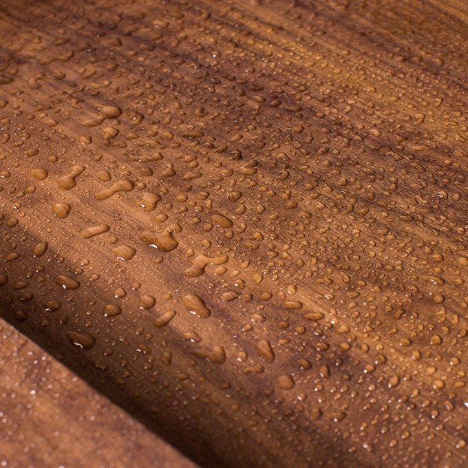 Тумба Wood Pro со встроенной деревянной раковиной