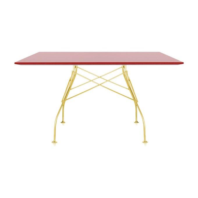 Обеденный стол Glossy с красной столешницей