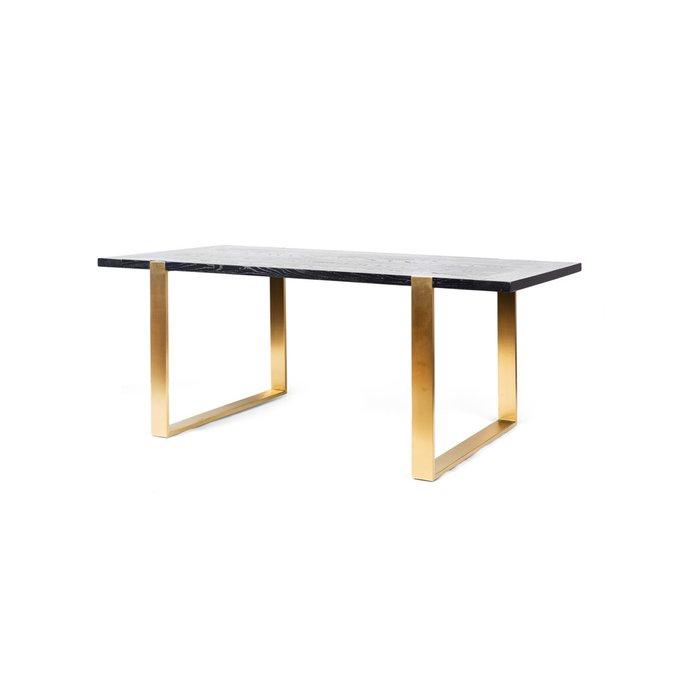 Стол обеденный Graceful из массива дерева и металла