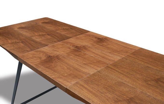 Обеденный раскладной стол с ореховой столешницей