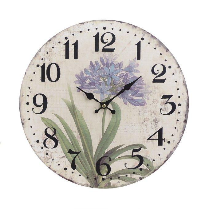 Часы настенные с кварцевым механизмом бежевого цвета
