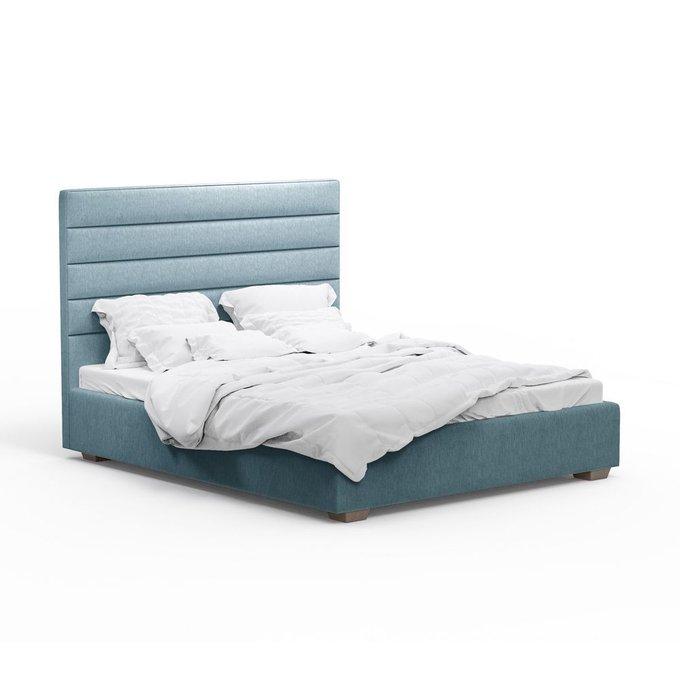 Кровать Джейси голубого цвета 180х200 с подъемным механизмом