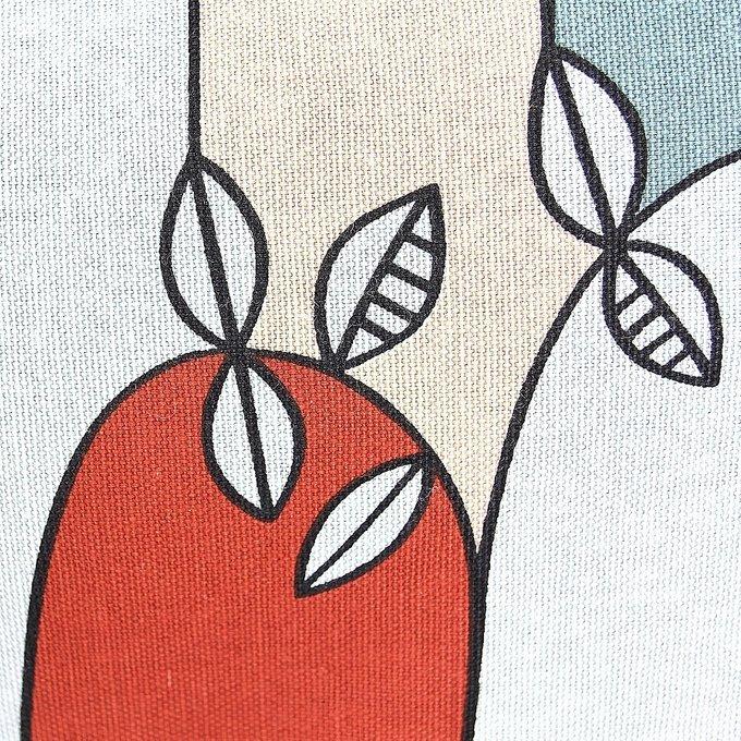 Комплект чехол + подушка Цветение с декоративной окантовкой