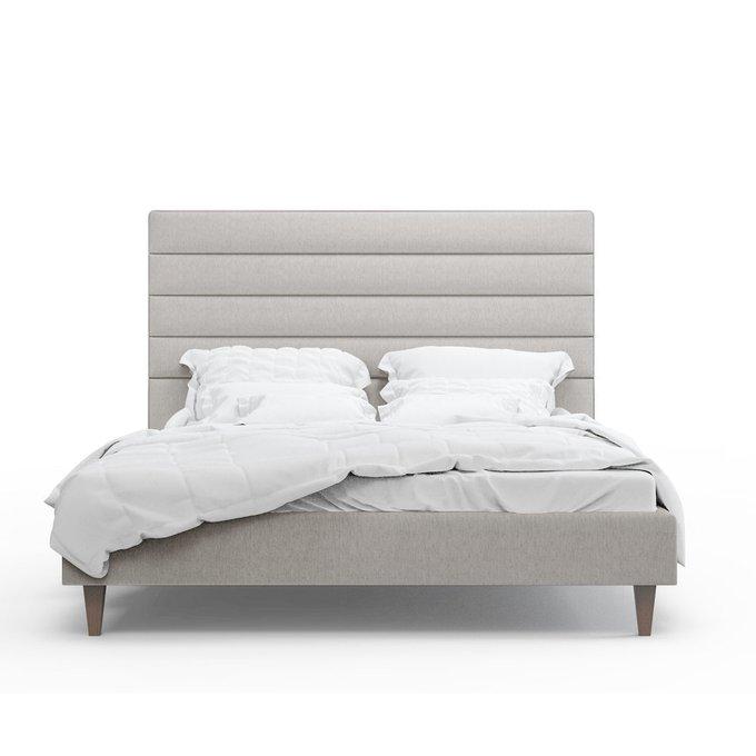 Кровать Джейси светло-серого цвета 200х200
