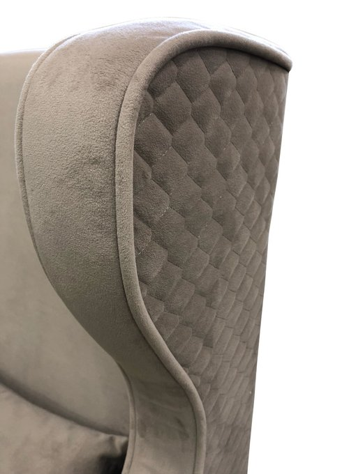 Каминное кресло Джеймс из массива бука и ткани