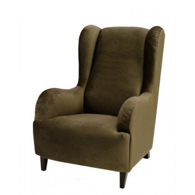 Каминное кресло Лондон с высокой спинкой