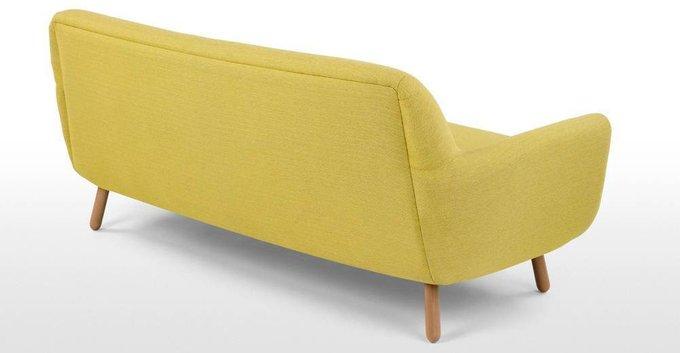 Диван Jonah трехместный желтого цвета