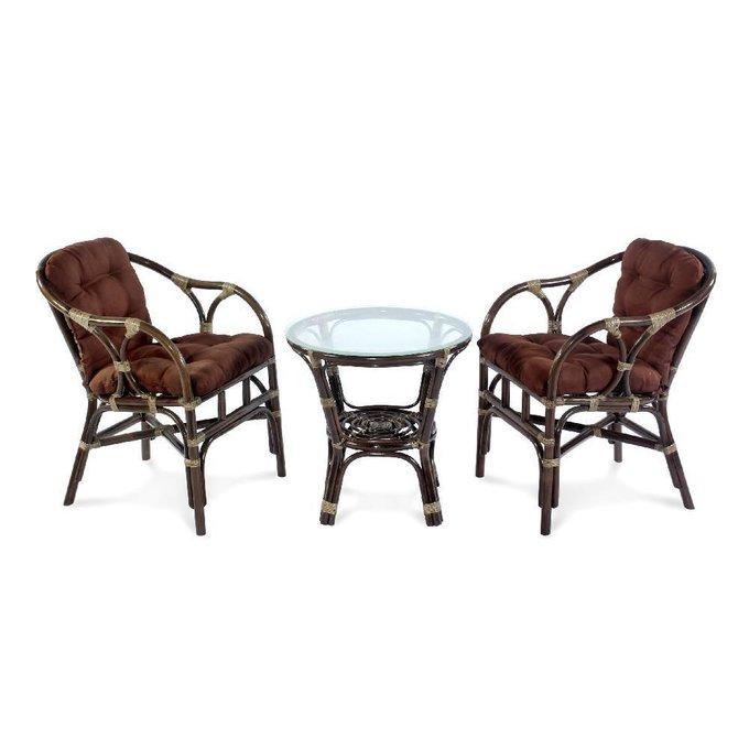 Комплект кофейный Terrace темно-коричневого цвета
