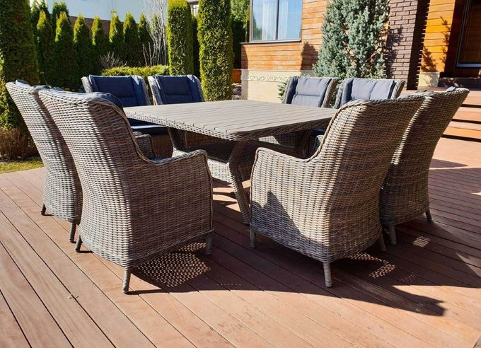 Садовый комплект мебели Неаполь из искусственного ротанга