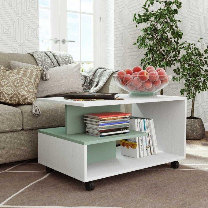Журнальный столик Селеста со вставкой цвета мусон