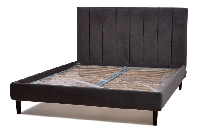 Кровать Клэр темно-коричневого цвета 160х200 с ящиком для хранения