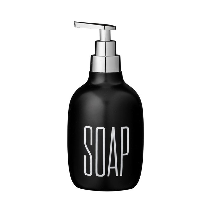 Диспенсер для мыла Soap black черного цвета