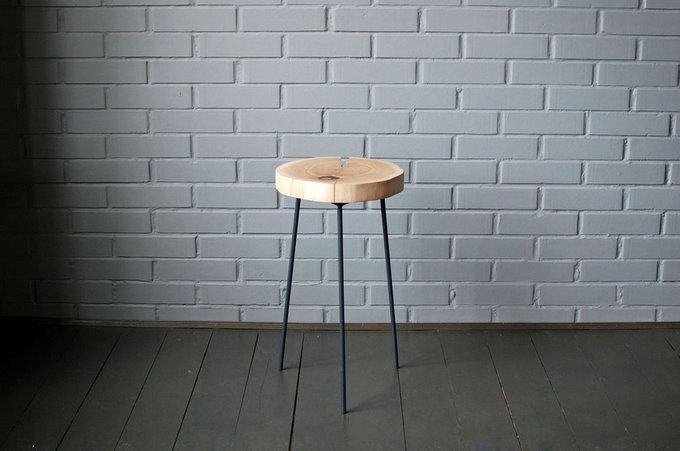 Стол из спила Tree 08 с темно-серыми ножками