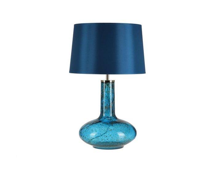 Настольная лампа Crisbase с синим абажуром