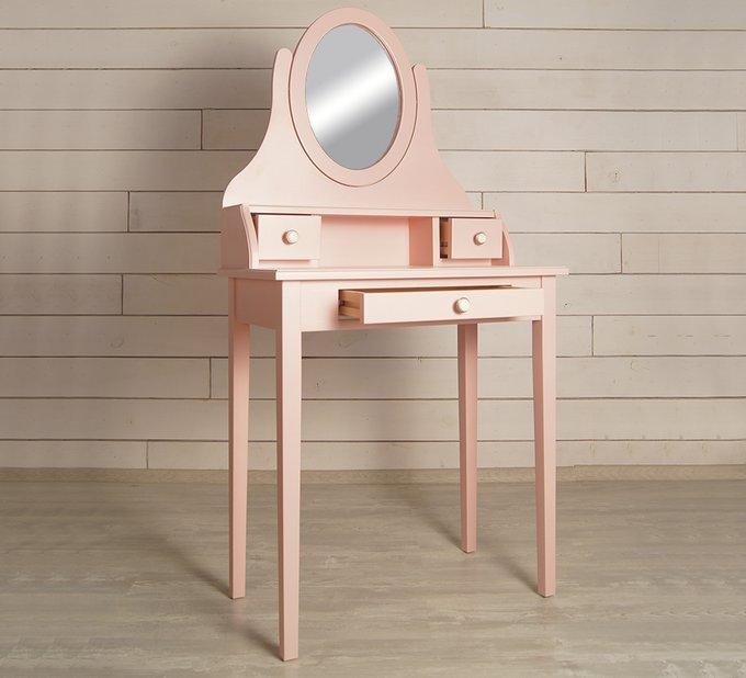 """Туалетный столик с зеркалом """"Adelina"""" в розовом цвете"""