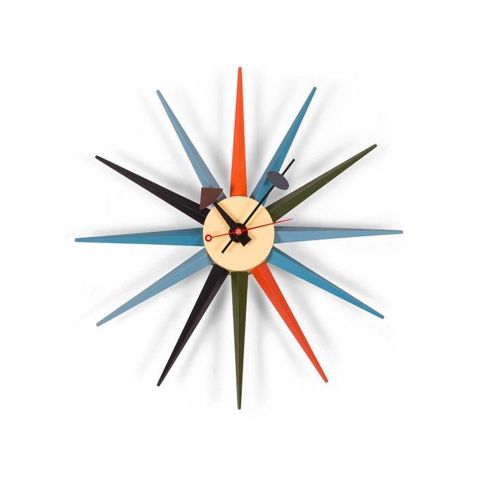 Часы настенные SunBurst Clock из металла