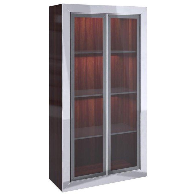 Витрина со стеклянными дверцами