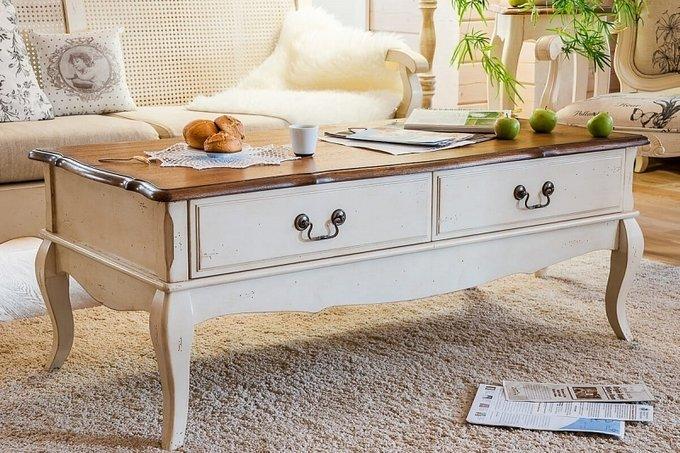 Кофейный столик с двумя ящиками