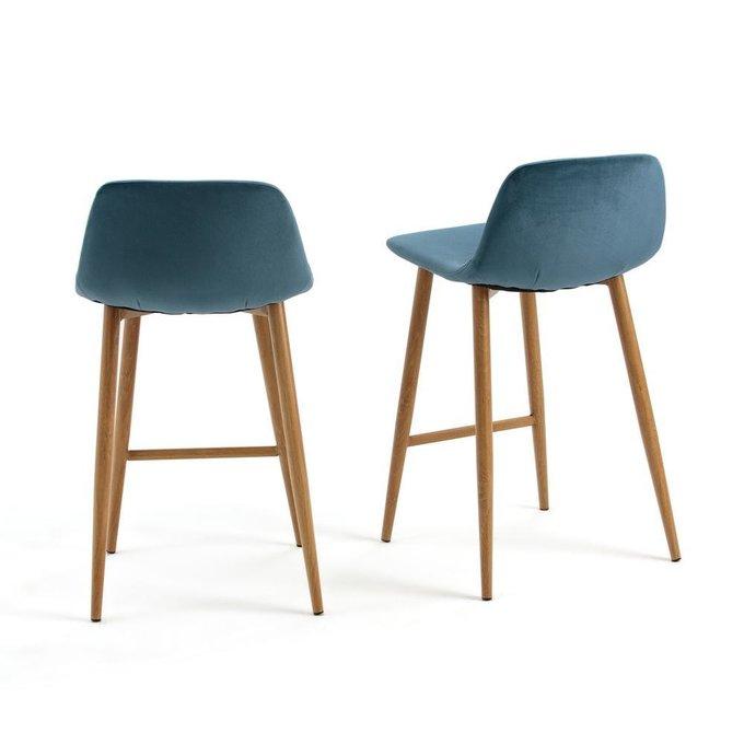 Комплект из двух полубарных стульев Iena синего цвета