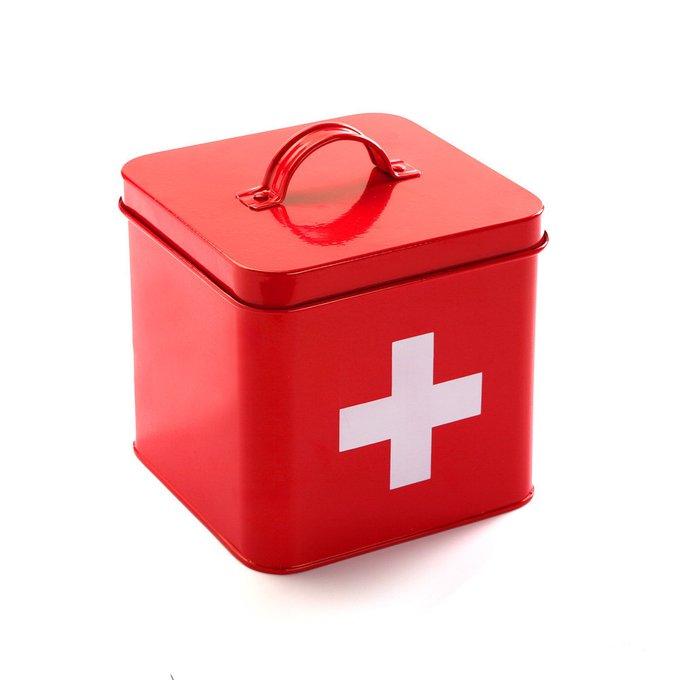 АптечкаAllison для хранения медикаментов красного цвета