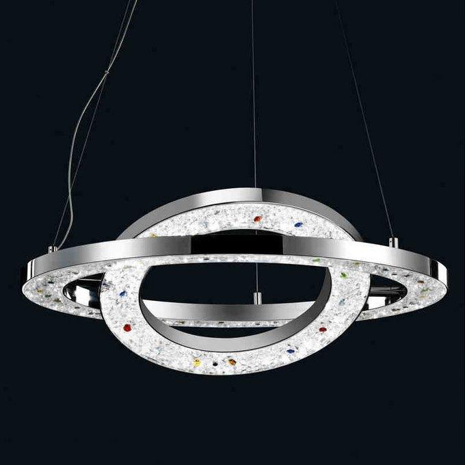 Подвесной светильник Illuminati с плафоном из хромированых колец