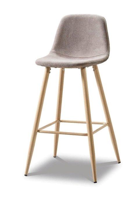 Барный стул Cowboy dark beige/wood бежевого цвета