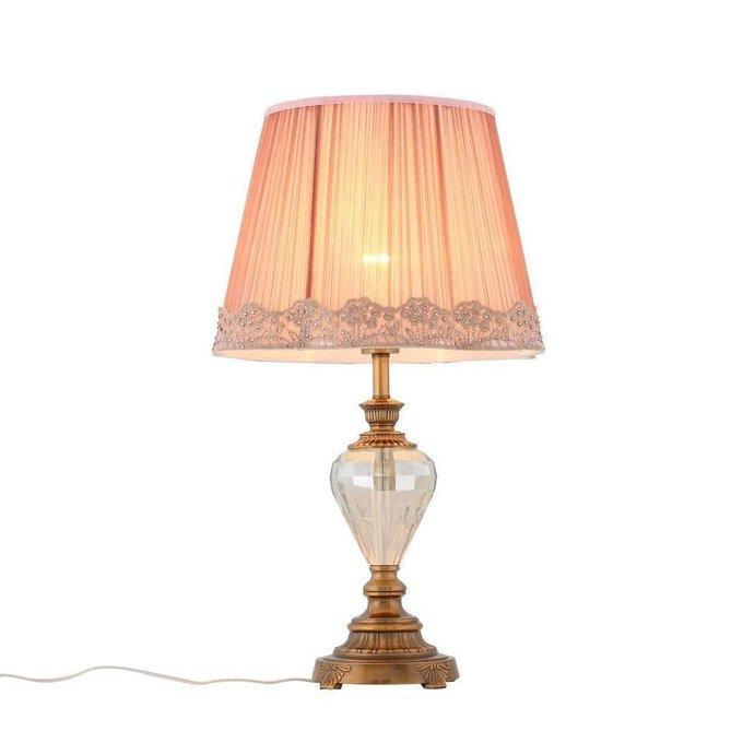 Настольная лампа Assenza с розовым плафоном