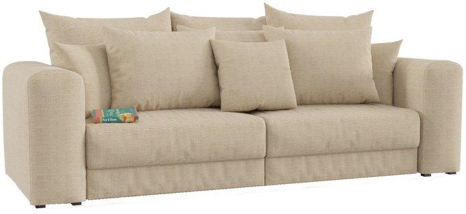 Диван-кровать Мэдисон с обивкой из бежевой рогожки
