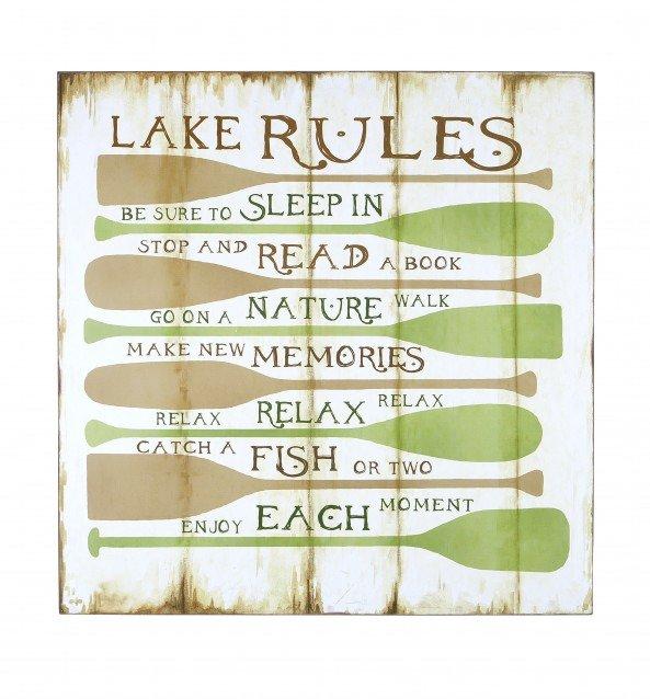 Панно Lake Rules
