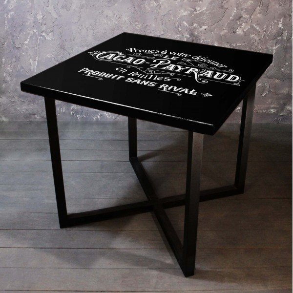Обеденный стол Black Label из массива сосны