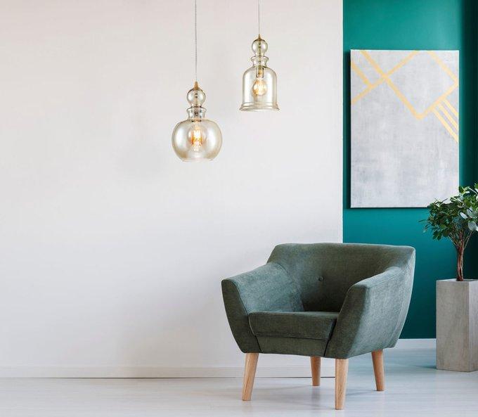 Подвесной светильник Tone янтарного цвета