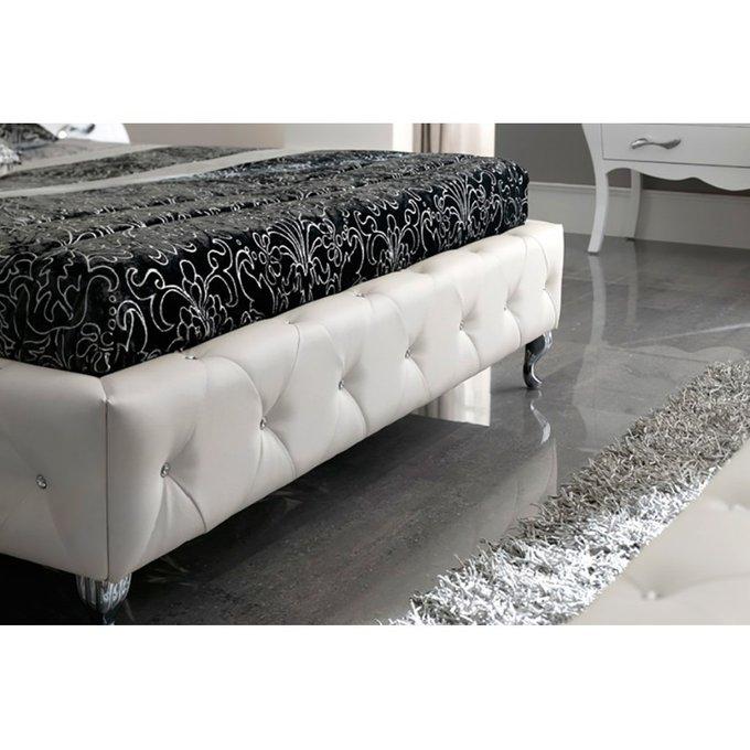 Двухспальная кровать Nelly белого цвета 180х200