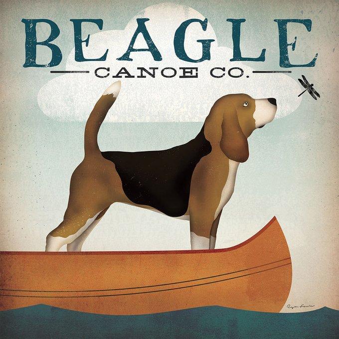 Картина (репродукция, постер): Beagle Canoe Co - Райан Фоулер