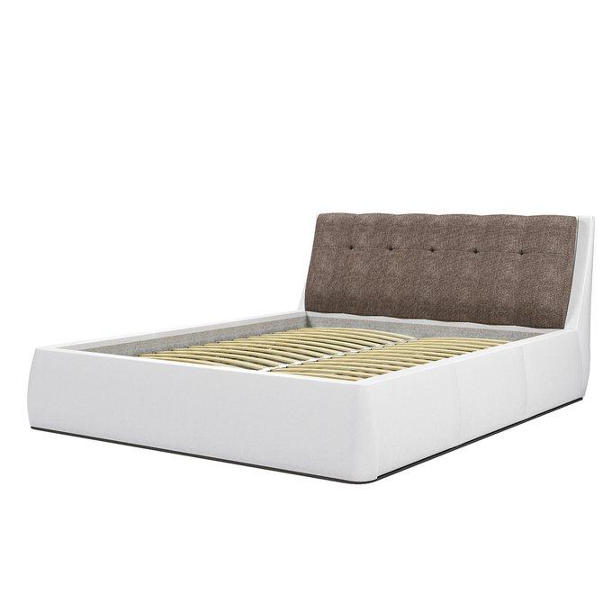 Кровать Гесиона 180х200 с серым изголовьем и подъемным механизмом