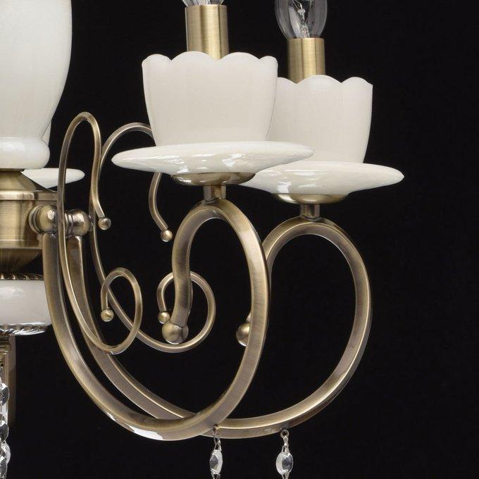 Подвесная люстра Свеча с хрустальными подвесками