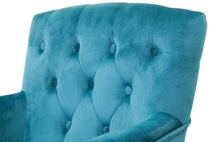Классическое кресло Deron blue синего цвета