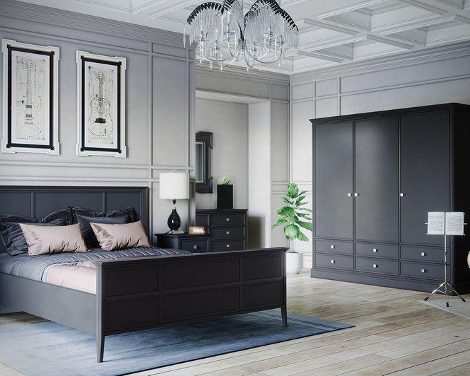 Кровать Ellington черного цвета c изножьем 160х200