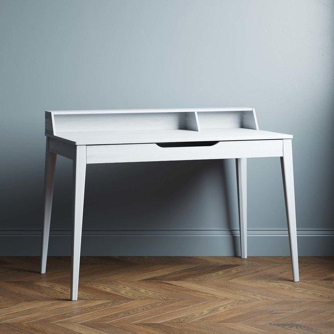 Письменный стол Buro 120х80 с белым ящиком