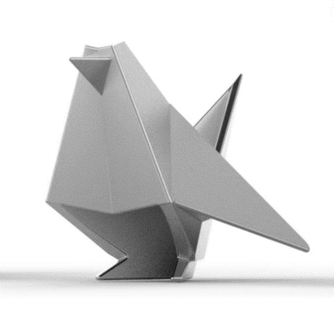Держатель для колец origami птица серого цвета