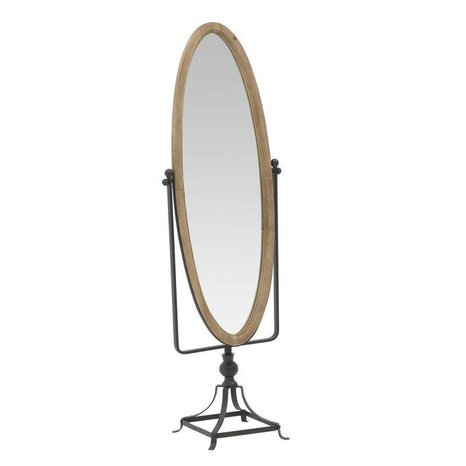 Зеркало напольное на металлической подставке