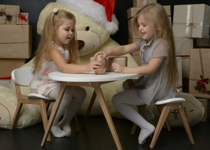 Детский стульчик из коллекции Classic белого цвета