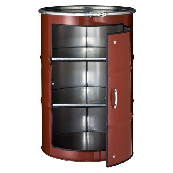 Бочка-шкаф с дверью и полками ХL