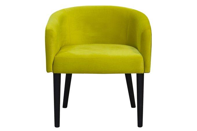 Стул-кресло Galar в обивке салатового цвета