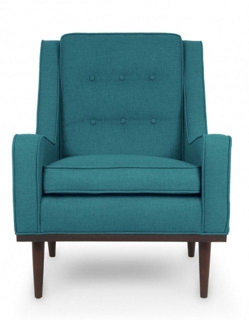 Кресло Элай бирюзового цвета
