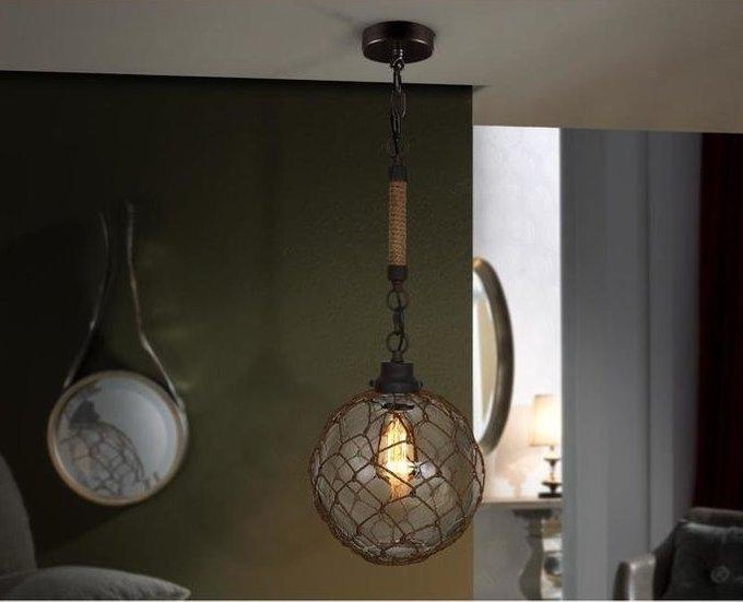 Подвесной светильник Schuller Laza с плафоном из стекла