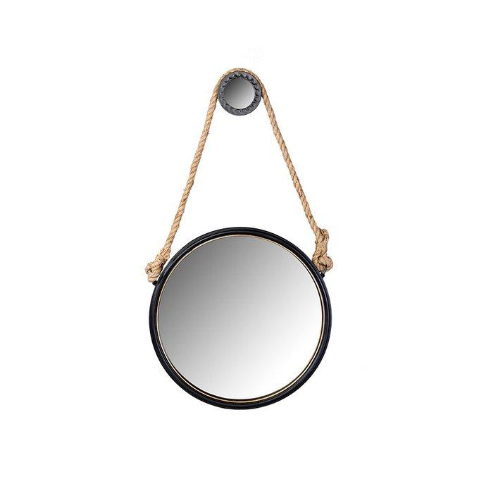 Настенное зеркало Itasca в раме черного цвета