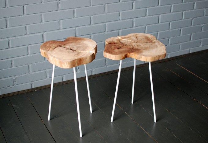 Стол из спила Tree 24 с белыми ножками
